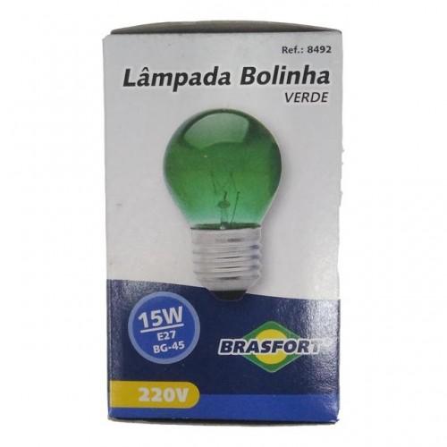 LAMP.BOLINHA BRASFORT 15WX220V VERDE PC 5