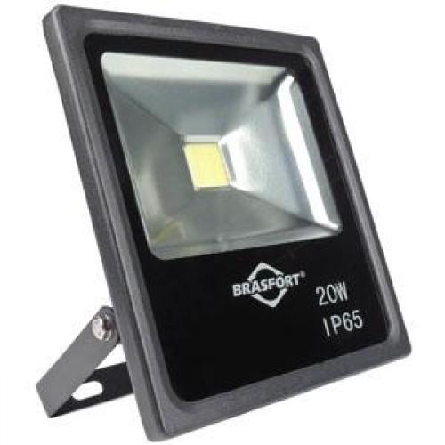 REFLETOR LED BRASFORT 20W  BIV. > PC 1
