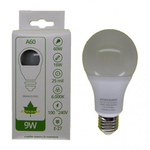 LAMP.LED  ECOLUME 09W 6000K NORMATIZADA  PC 1